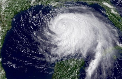 Satellite View of Hurricane Ike