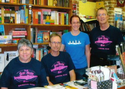Hardy Roper and the Crew at Galveston Bookshop